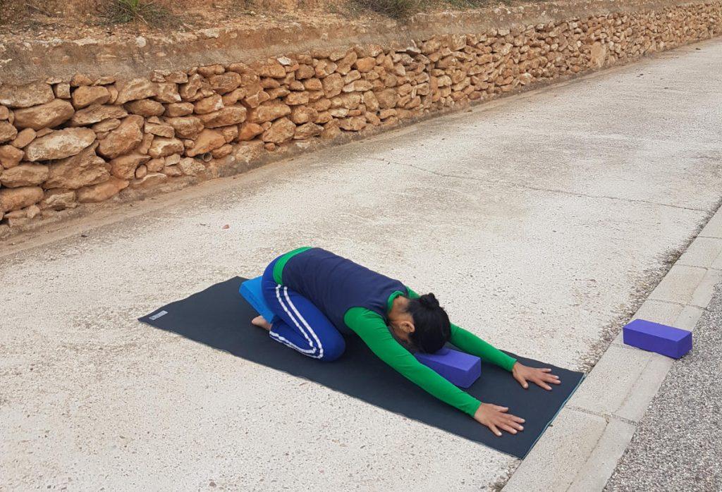Adho Mukha Virasana - Forward Hero Pose - with supports